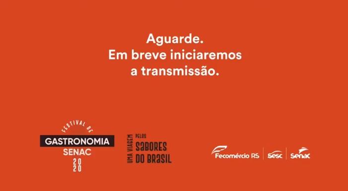 LIVE – Petiscos de Boteco – Chef João Mesquita/SENAC RJ e Chef Ana Carolina Gregório/SENAC DF. (FullHD 1080p).